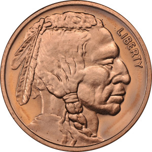 Indian / Buffalo Nickel - 1 oz. .999 Pure Copper Round