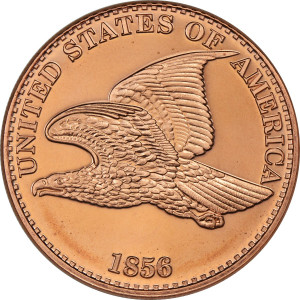 Flying Eagle 1 oz. .999 Pure Copper Round