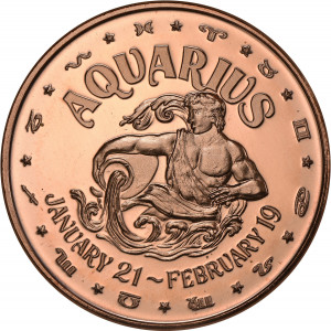 Aquarius - 1 oz. .999 Pure Copper Round