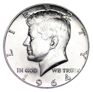1964-D Kennedy Half-Dollars - Roll of 20 Coins