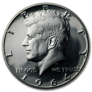 1964-P Kennedy Half-Dollars - Roll of 20