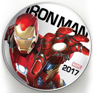Marvel 2017 Iron Man Light-Up Silver Clad Coin