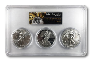 2017 American Silver Eagle 3 pc Set - PCGS MS - PR - SP70