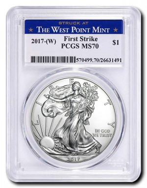2017-(W) American Silver Eagle FirstStrike PCGS MS70  - Struck at The West Point Mint