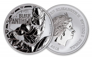 Marvel's 2018 Black Panther Tuvalu $1 1-oz Silver Coin - Brilliant Uncirculated