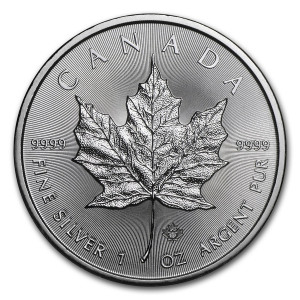 2018 1 oz. Canadian Maple Leaf Silver