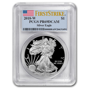 2018-W Proof Silver American Eagle - PCGS PR69DCAM First Strike