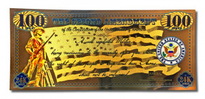 NEW! Second Amendment 24K Gold Note