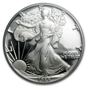 1988-S American Silver Eagle - Proof