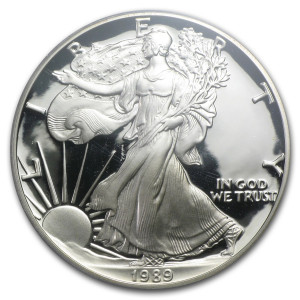 1989-S American Silver Eagle - Proof