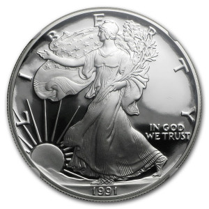 1991-S American Silver Eagle - Proof