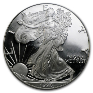 1996-P American Silver Eagle - Proof