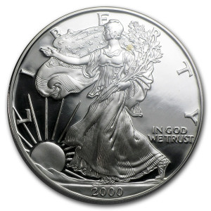 2000-P American Silver Eagle - Proof