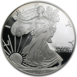 2005-W American Silver Eagle - Proof