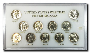US Wartime Silver Nickel Set