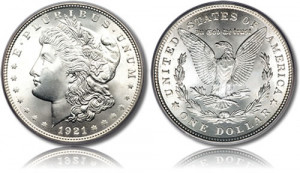 Brilliant Uncirculated (BU) U.S. Morgan Silver Dollars