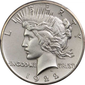 Brilliant Uncirculated (BU) U.S. Peace Silver Dollars