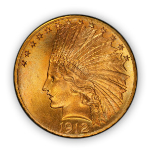 America's Last Circulating $10 Gold Indian Coin - BU