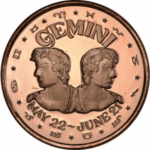 Gemini - 1 oz. .999 Pure Copper Round
