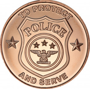 Police Department - 1 oz. .999 Pure Copper Round