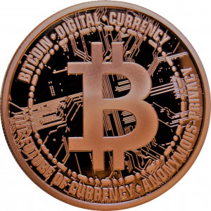 Bitcoin - 1 oz. .999 Pure Copper Round