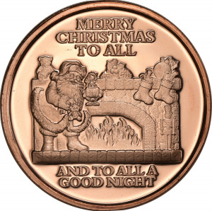 Merry Christmas to All - 1 oz. .999 Pure Copper Round