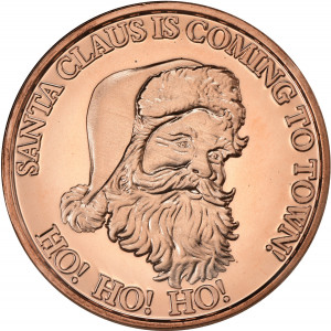 Santa Claus is Coming to Town - 1 oz. .999 Pure Copper Round