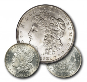 The First & Last Morgan Silver Dollars (BU) - 1878 and 1921