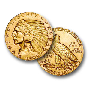 Last of the Gold Indians - $5 Indian (XF)