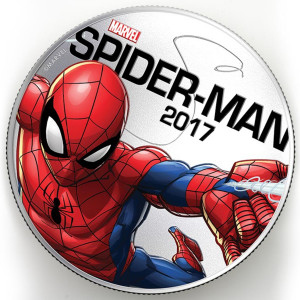 Marvel 2017 Spider-Man Light-Up Silver Clad Coin