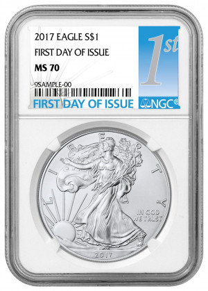 2017 Silver American Eagle MS-70 NGC (First Day of Issue)