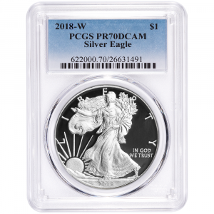 2018-W Proof Silver American Eagle - PCGS PR70DCAM