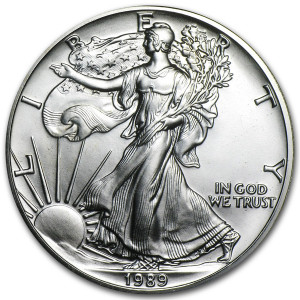 1989 Silver Eagle - Brilliant Uncirculated