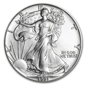 1991 Silver Eagle - Brilliant Uncirculated