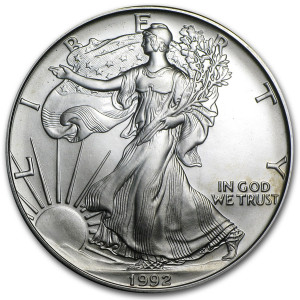 1992 Silver Eagle - Brilliant Uncirculated