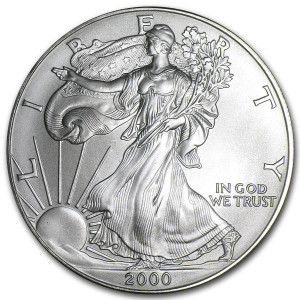 2000 Silver Eagle - Brilliant Uncirculated
