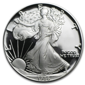1986-S American Silver Eagle - Proof