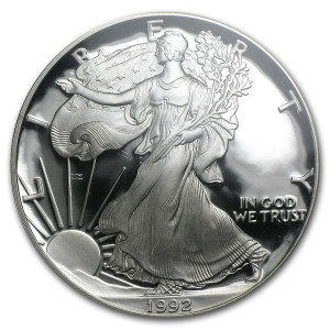1992-S American Silver Eagle - Proof