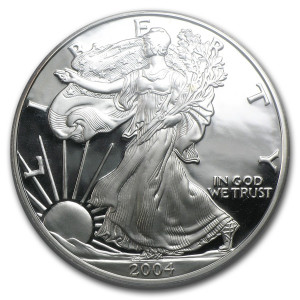 2004-W American Silver Eagle - Proof
