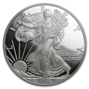 2008-W American Silver Eagle - Proof